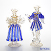 Ballarin 'Cobalt Blue x White Lace with Gold' 0018/17 Small Couple Figurine (set of 2)