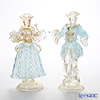 Ballarin 'Turquoise Lace x White Lace with Gold' 0018/17 Small Couple Figurine (set of 2)