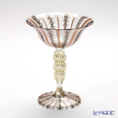 バラリン ワイングラス #4368 ゴールド×ブラック 変形レース