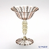 Ballarin 'Black Lace x Bronze with Gold' #4368  Wine Glass (Decorated stem)