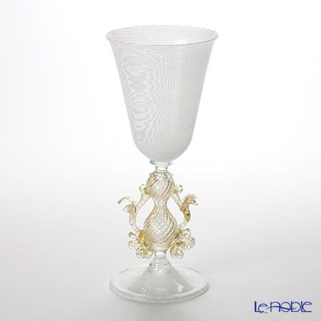 バラリン ワイングラス 脚飾り付 #5033 ホワイトフィリグラーナ