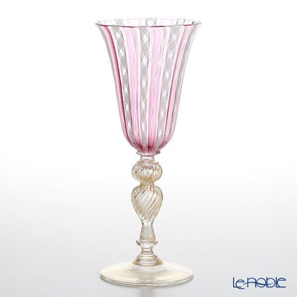 Ballarin 'Ruby x White Lace with Gold' Wine Glass