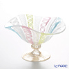 Ballarin 'Pastel Multi-color Lace with Gold' 4322/Z Weave Pedestal Bowl 15.5xH10cm