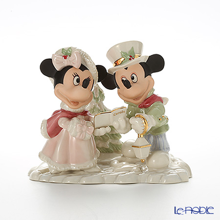 レノックス ディズニーフィギュリン ミッキー&フレンズミッキー&ミニー ホリデーキャロル 3LNL789-025