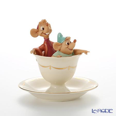 Lenox 'Disney - Tea Party Pals (Tea Cup & Saucer / Cinderella, Jack & Gus) 3LNL802-866 Figurine H14.5cm