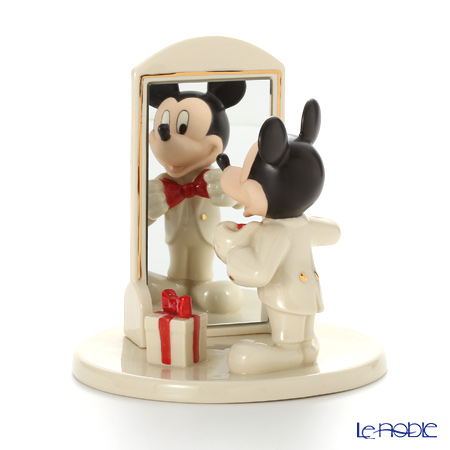 Lenox 'Disney - Here's Looking at You Mickey Mouse (Mirror, Bow Tie & Gift)' 3LNL819-210 Figurine H17.5cm