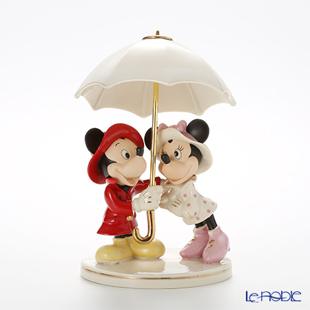 Lenox 'Disney - Mickey Mouse & Minnie Mouse Singing in the Rain (Umbrella) 3LNL826-878 Figurine H23cm
