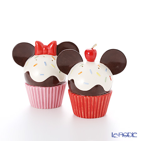 Lenox 'Disney - Mickey Mouse & Minnie Mouse Cupcake (Cherry & Ribbon)' 3LNL833-345 Salt & Pepper (set of 2)