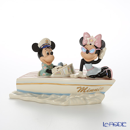Lenox 'Disney - Mickey Mouse & Minnie Mouse / Crusing the Waves with Minnie (Boat)' 3LNL837-884 Figurine H15cm
