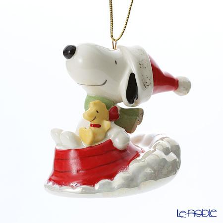 レノックス オーナメント スヌーピー ソリ Sledding with Snoopy 849918