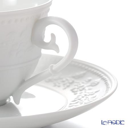 J.L coca Georgia white Tea Cup & Saucer 130 cc