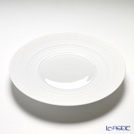J.L Coquet / Limoges 'Hemisphere' White Satin Dinner Plate 26cm