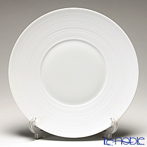 J.L Coquet / Limoges 'Hemisphere' White Satin Charger Plate 31cm