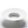 J.L Coquet / Limoges 'Hemisphere' White Satin Rim Soup Plate 27cm (L)