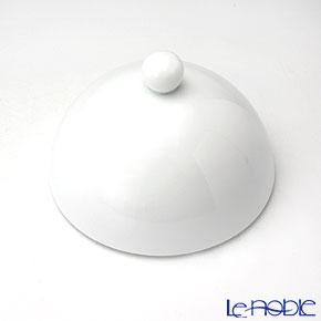 J.L コケー ヘミスフィア ホワイトサテンリム深型プレート(L)用ふた 12.5cm