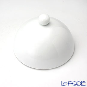 J.L コケー ヘミスフィア ホワイトサテン リム深型プレート(L)用ふた 12.5cm