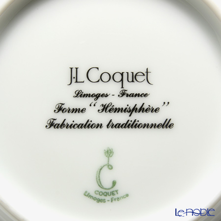 J.L Coquet / Limoges 'Hemisphere' White Satin Bowl 11.5cm