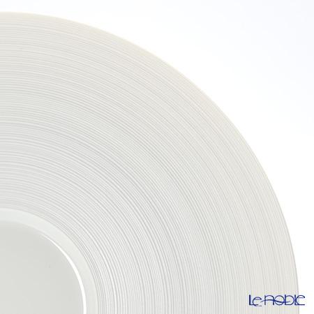 J.L Coquet / Limoges 'Hemisphere' White Satin Mise es Bouche / Appetizer Plate 30cm