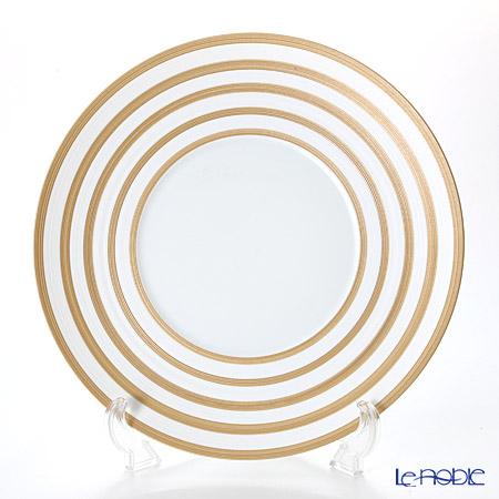 J.L Coquet / Limoges 'Hemisphere - Stripes' Metalic Copper Charger Plate 32cm