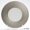J.L Coquet / Limoges 'Hemisphere' Platinum Charger Plate 32cm