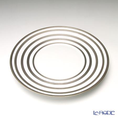 J.L.Coquet Hemisphere Rayé platine (Platinum stripes) Dessert plate 21 cm