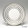 J.L Coquet / Limoges 'Hemisphere - Stripes' Platinum Dessert Plate 21cm