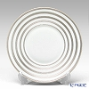 J.L Coquet / Limoges 'Hemisphere - Stripes' Platinum Dinner Plate 26cm