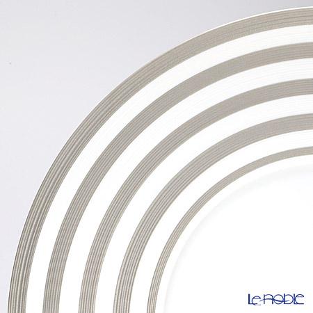 J.L Coquet / Limoges 'Hemisphere - Stripes' Platinum Charger Plate 31cm