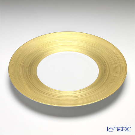 J.L Coquet / Limoges 'Hemisphere' Gold Charger Plate 31cm