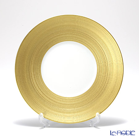 J.L Coquet / Limoges 'Hemisphere' Gold Dessert Plate 21cm