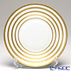 J.L Coquet / Limoges 'Hemisphere - Stripes' Gold Dinner Plate 26cm