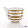 J.L Coquet / Limoges 'Hemisphere - Stripes' Gold Creamer 250ml