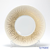 J.L Coquet / Limoges 'Hemisphere - Toundra / Fall (Autumn)' Terracotta & Gold Dinner Plate 26cm