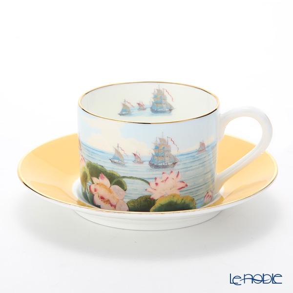 Roy Kirkham Blenheim Palace Indian Room China Collection Tea Cup & Saucer, yellow