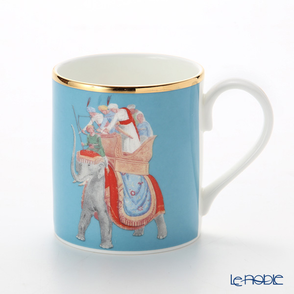 Roy Kirkham Blenheim Palace Indian Room China Collection Larch Mug 280 cc, elephant-blue