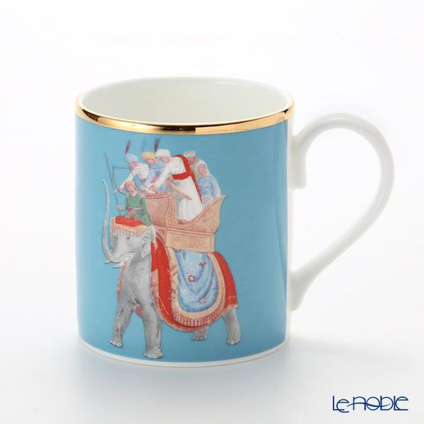 ロイカーカム ブレナム宮殿(インディアンルーム) マグ(エレファント/ブルー) 280cc