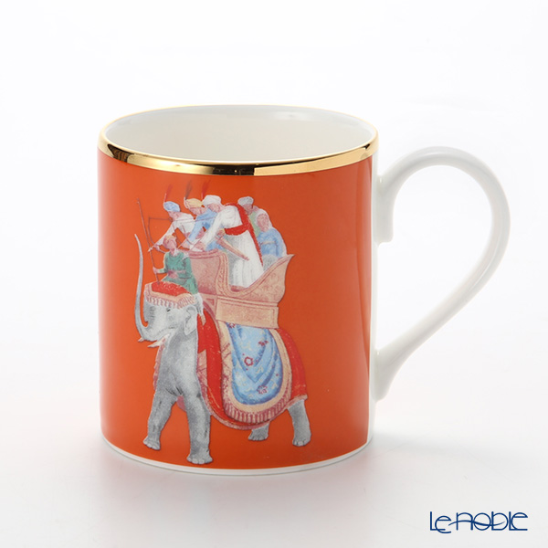 Roy Kirkham 'Blenheim Palace - Indian Room / Elephant (Animal)' Orange Mug 280ml