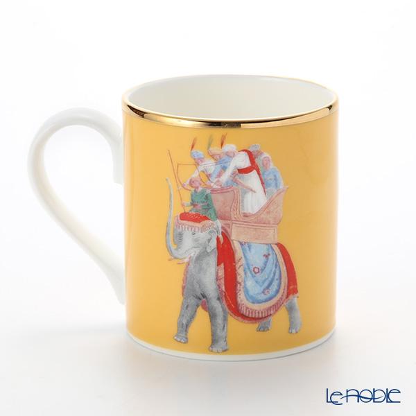 Roy Kirkham 'Blenheim Palace - Indian Room / Elephant (Animal)' Yellow Mug 280ml