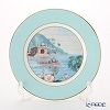 Roy Kirkham Blenheim Palace Indian Room China Collection 22 cm Tea Plate, turquoise