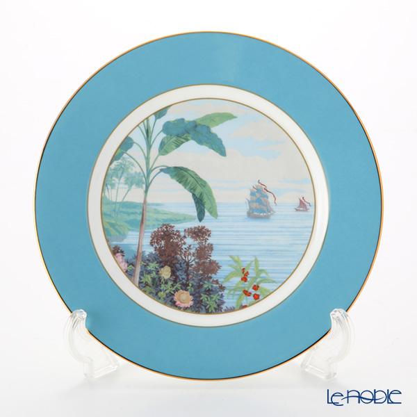 Roy Kirkham 'Blenheim Palace - Indian Room' Blue Tea Plate 22cm