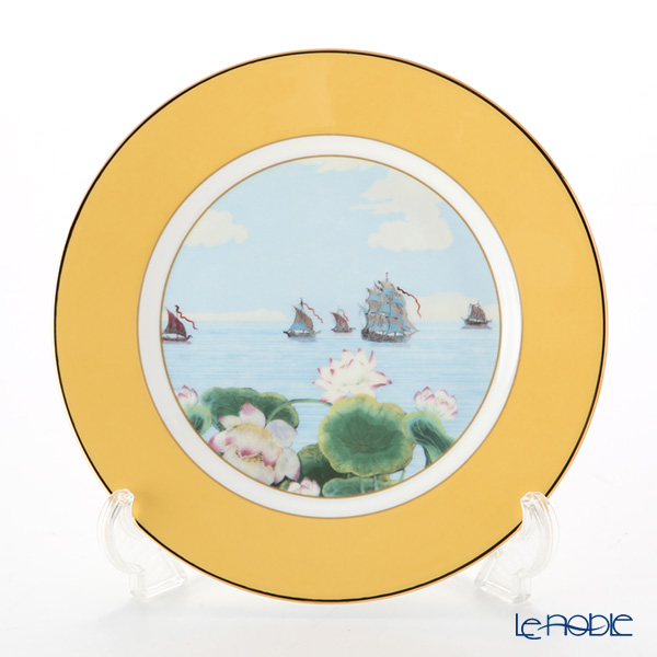 Roy Kirkham 'Blenheim Palace - Indian Room' Yellow Tea Plate 22cm