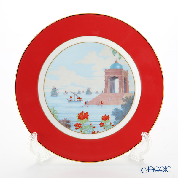 Roy Kirkham 'Blenheim Palace - Indian Room' Red Tea Plate 22cm