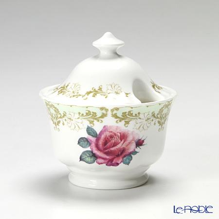 Roy Kirkham Vintage Rose Sugar Bowl 9.4cm 200ml, Green