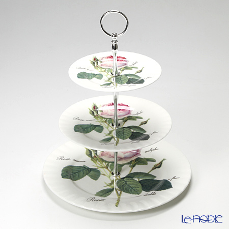 Roy Kirkham Redoute Rose Three Tier Cake Stand