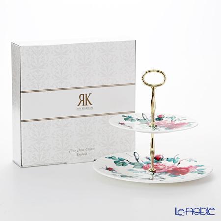 ロイカーカム イングリッシュローズ 2段ケーキスタンド