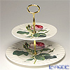 Roy Kirkham Redoute Rose Two Tier Cake Stand