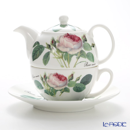 Roy Kirkham Redoute Rose Tea for One Teapot with Classic Cup & Saucer