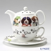 Roy Kirkham Animal Fashions Cat & Dog Tea for One Teapot with Classic Cup & Saucer, Dog