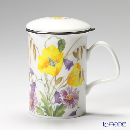 Roy Kirkham English Meadow Infuser Mug, Yellow