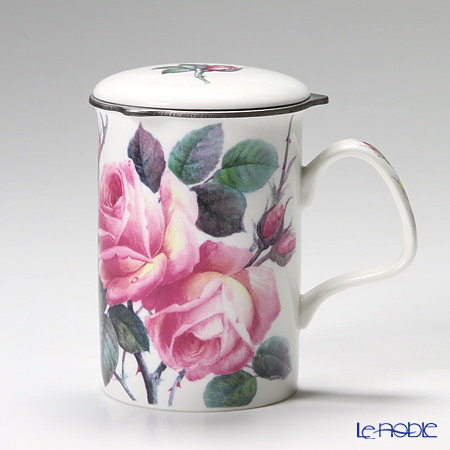 Roy Kirkham English Rose Infuser Mug, Pink